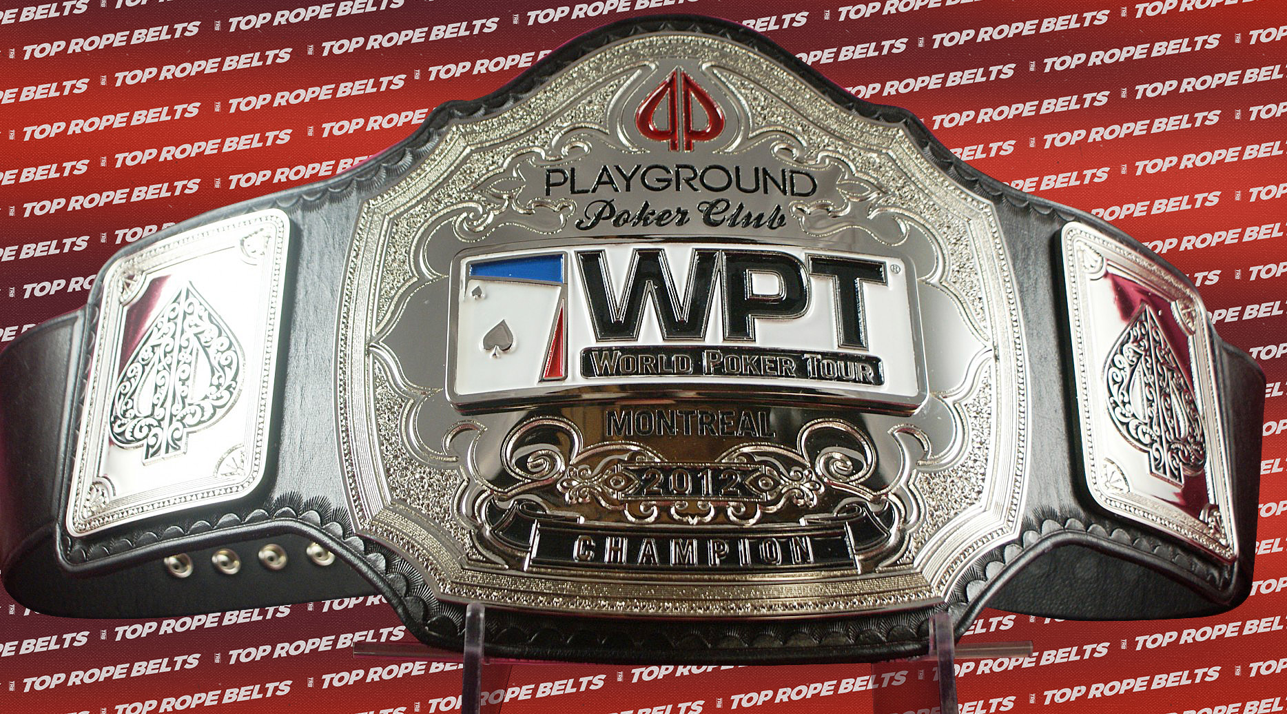 World Poker Tour Playground Poker Championship Belt Top